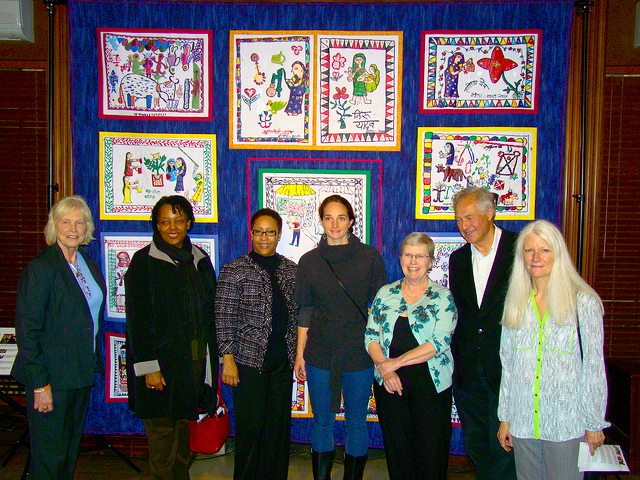 As a Peace Fellow, Kate Bollinger organized the painting of squares for the Women's Health Quilt in Nepal. She is shown here with members of the Zonta Club of Washington.