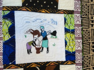 The Mali Camel Quilt was exhibited for the first time at Salve Regina