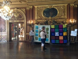 Elegant setting: The exhibition was held at Ochre Court, overlooking the ocean