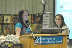 students and bianca at Umass