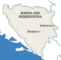 map of Bosnia 200x199
