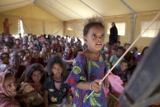 School in Mbera refugee camp in Mauritania. Photo: Joe Penney/Reuters