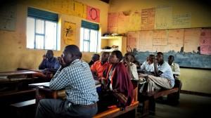 Teachers at Koch Goma Primary listening to Patrick