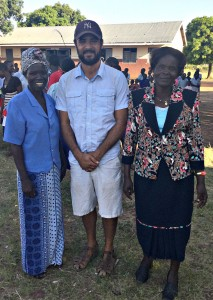 From Left ro Right, P1 Teacher Ajok Sarah Josephine, AP Peace Fellow Josh Levy, and Head Teacher Madam Christine