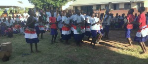 Students Performing a Traditional Acholi Dance