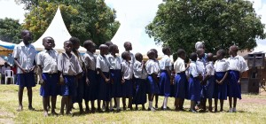 The Tochi P-2 Class Preparing to Recite a Poem on Good Hygiene and Sanitation