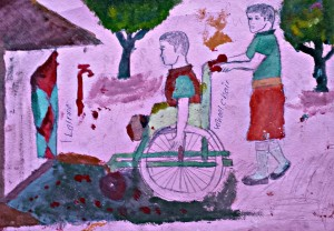 Winning Painting of What Tochi Students Visualize as an Inclusive Environment