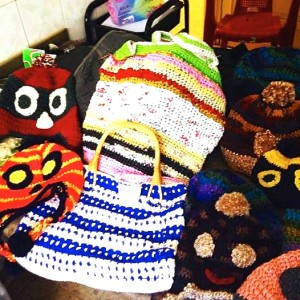 Handbags and hats produced by Hope Workshop Members