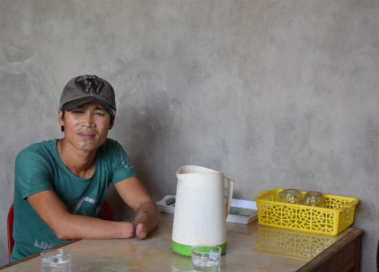 Meet Mr. Luong. He's a landmine survivor and an beneficiary of AEPD. He met Mr. Thuan, an AEPD outreach worker, who helped him overcome his depression after the accident and supported him in setting up a small grocery store and fish cages so Mr. Luong and his family can earn an income.