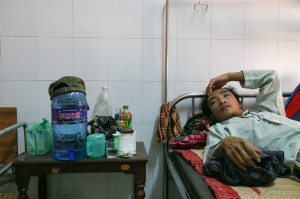 trung in hospital