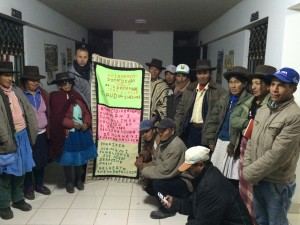 With the community of Sacsamarca