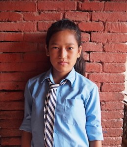 This is Muskan she is 13 years old. Muskan's father has been gone for 1 year working in Bahrain. He will be gone at least more year. With the money raised on global giving CONCERN-Nepal will be sponsoring her education this year so she won't have to help her mom in making bricks.