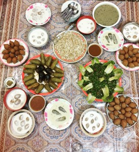 Mouth-watering iftar dinner.