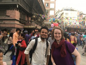 Visiting some of Kathmandu's temples with Kirstin and Prabal