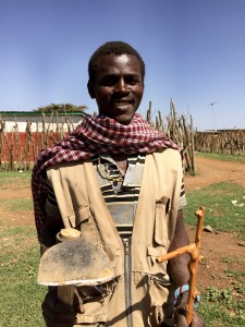 Moses Lemeria, a Samburu farmer, makes 400 shillings ($4) a week farming alongside his Pokot friends.
