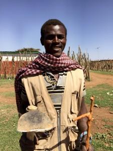 Moses Lemeria, a Samburu farmer, makes 400 shillings ($4) a week farming alongside his Pokot friends.