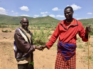 Joseph Lomna has learned much from his son, Francis Changulu. Francis attended a Peace Camp and his family later received a cow to share with their Samburu friends.
