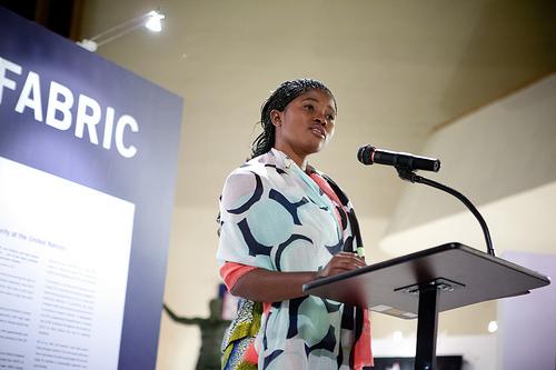 marceline at the podium