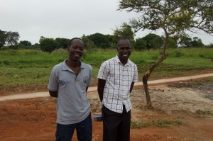 Faruk (on right) at the Ogul Primary School Handing Over Ceremony.