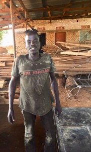 Collins is a talented welder in Gulu. His last minute work allowed us to complete the construction before I left.