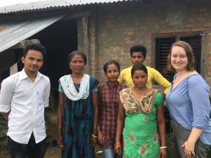 Prabal, Tiak Rani, Sarita, Prem Kumari and Kirstin at Prem Kumari's home