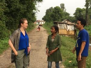 Kirstin, Sarita and Prabal, stories from Burigaun