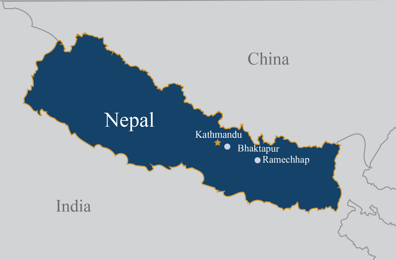 CONCERN Nepal map