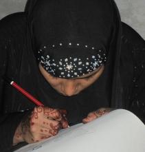 brilliant henna painting photo! close up