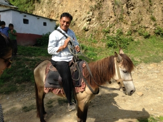 Panchakalya school principal and his horse shettrismall